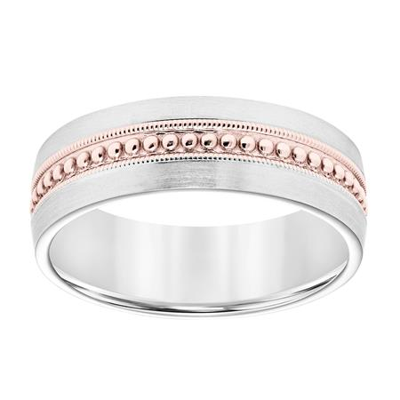 White and Rose Gold Band