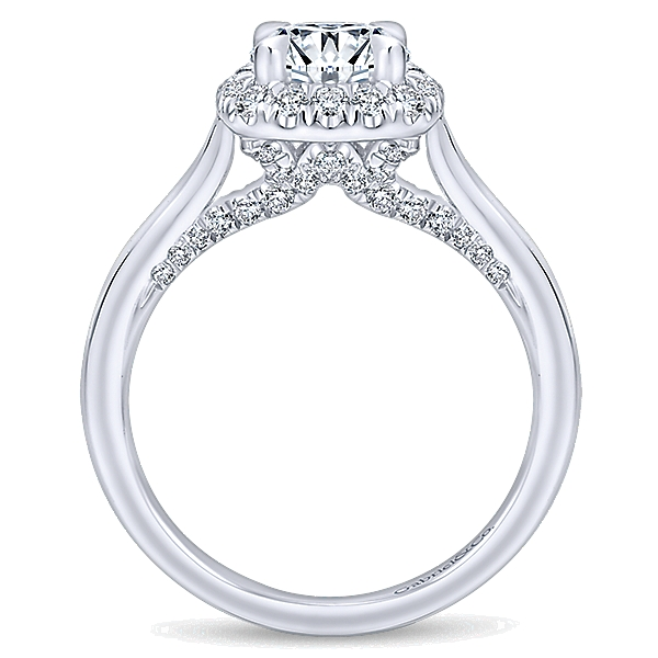 14k White Gold Entwined Diamond Halo Ring Er12672r4w44jj Abc Jewelry