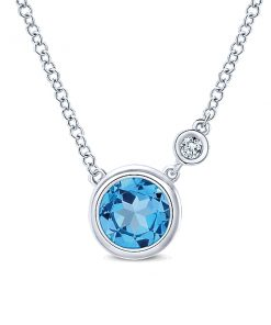 Swiss Blue Topaz Necklace