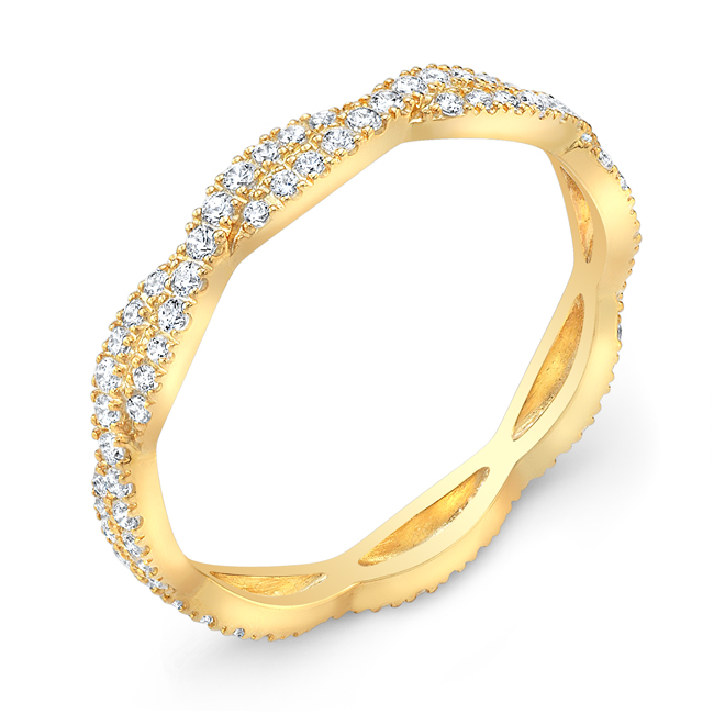 Yellow Gold Woven Diamond Brand