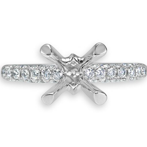 White Gold Pave Diamond Wedding Set
