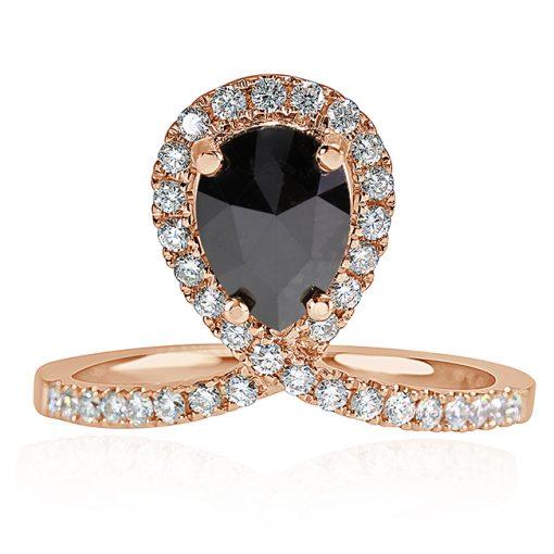 Rose Gold Free Form Cut Ring