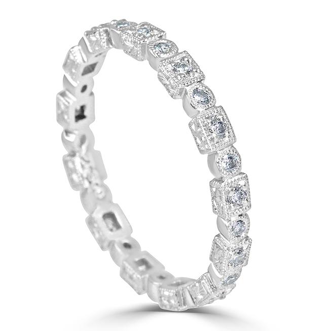 898d77bc982735 Platinum Eternity Diamond Wedding Band - 25068 - ABC Jewelry