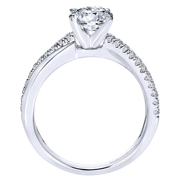 14k White Gold Morgan Engagement Ring