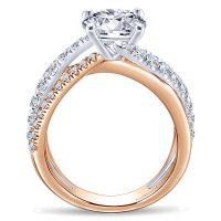 14k White and Rose Gold Zaira Engagement Ring