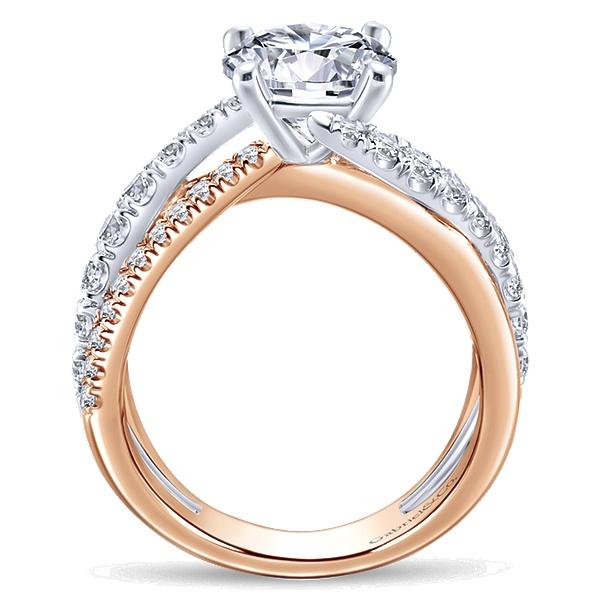 14k White and Rose Gold Zaira Engagement Ring