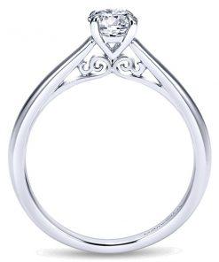 14k White Gold Valerie Solitaire Engagement Ring
