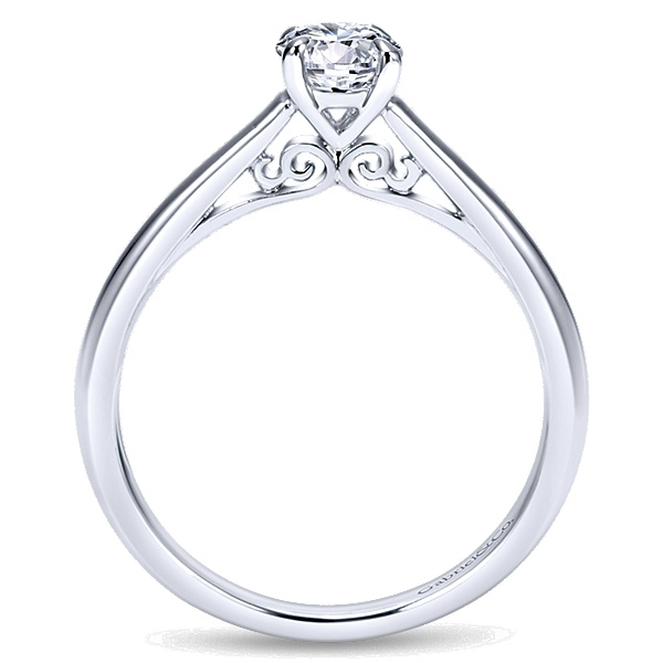 14k White Gold Valerie Solitaire Engagement Ring