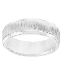 6mm 14k White Gold Engraved Band