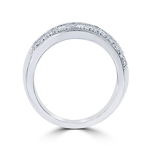 18Kt White Gold Diamond Anniversary Band