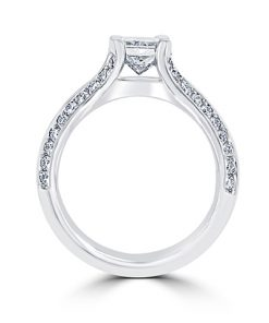14kt White Gold Radiant Diamond Engagement Rings – Portland, OR