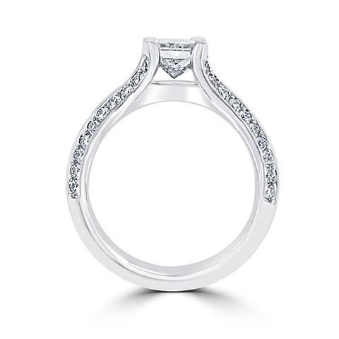 14kt White Gold Radiant Diamond Engagement Rings – Portland, OR