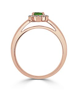 14kt Rose Gold Halo Engagement Ring