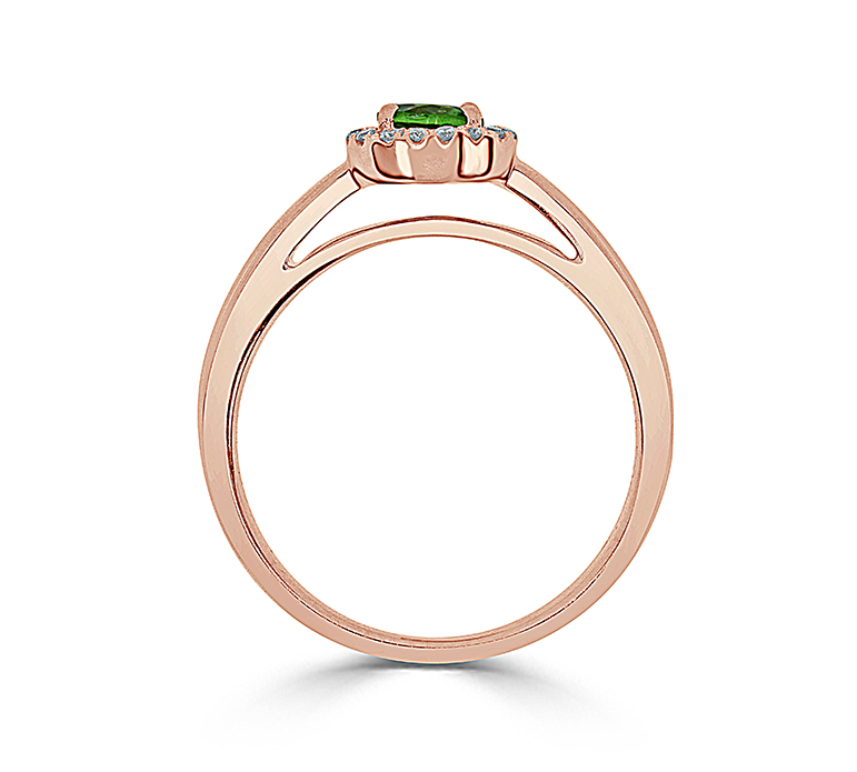 14kt Rose Gold Halo Engagement Ring