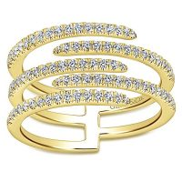 14kt Yellow Gold Ladies Fashion Diamond Ring