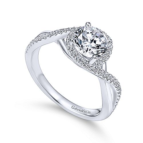 14k White Gold Ladies Engagement Ring Er7804w44jj Abc Jewelry