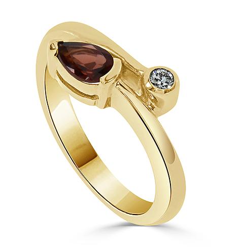 14kt Gold Bypass Ring